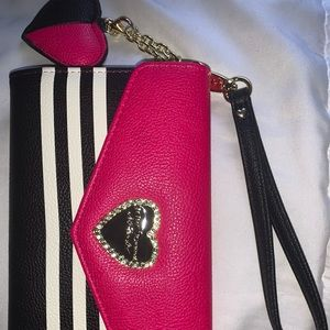 Betsy Johnson New York Leather Wallet Clutch NEW